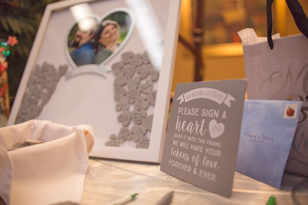 Alternative wedding guest book at Holiday Inn Hotel & Suites