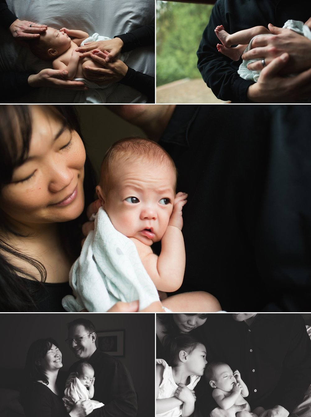 elena s blair seattle newborn family photographer baby at home