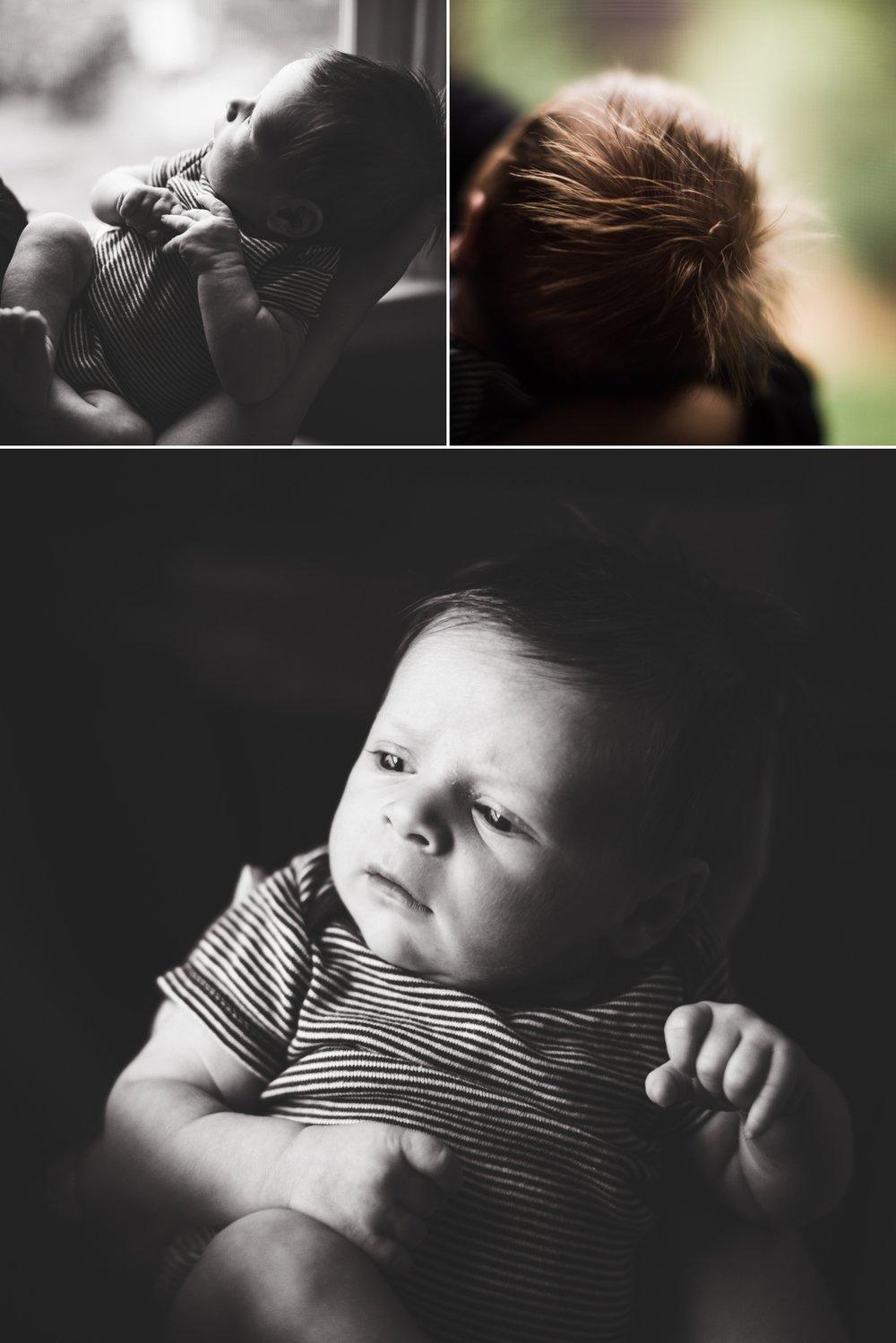 Black and White Newborn Photography Elena S Blair