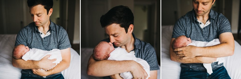 Father and Newborn Photograph Elena S Blair Photography