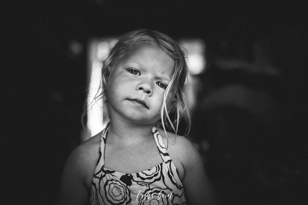 black and white child portrait photography pose tasha boin