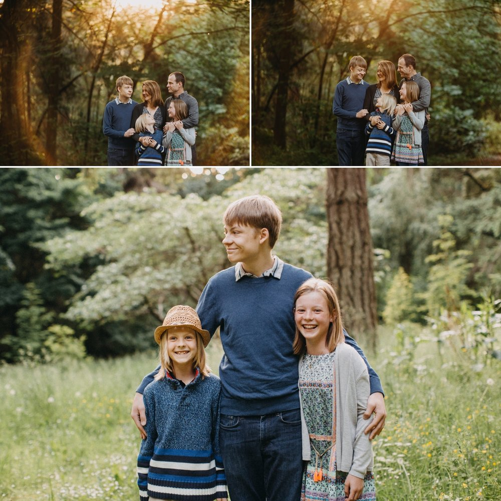 seattle family pose photography outdoors love elena s blair