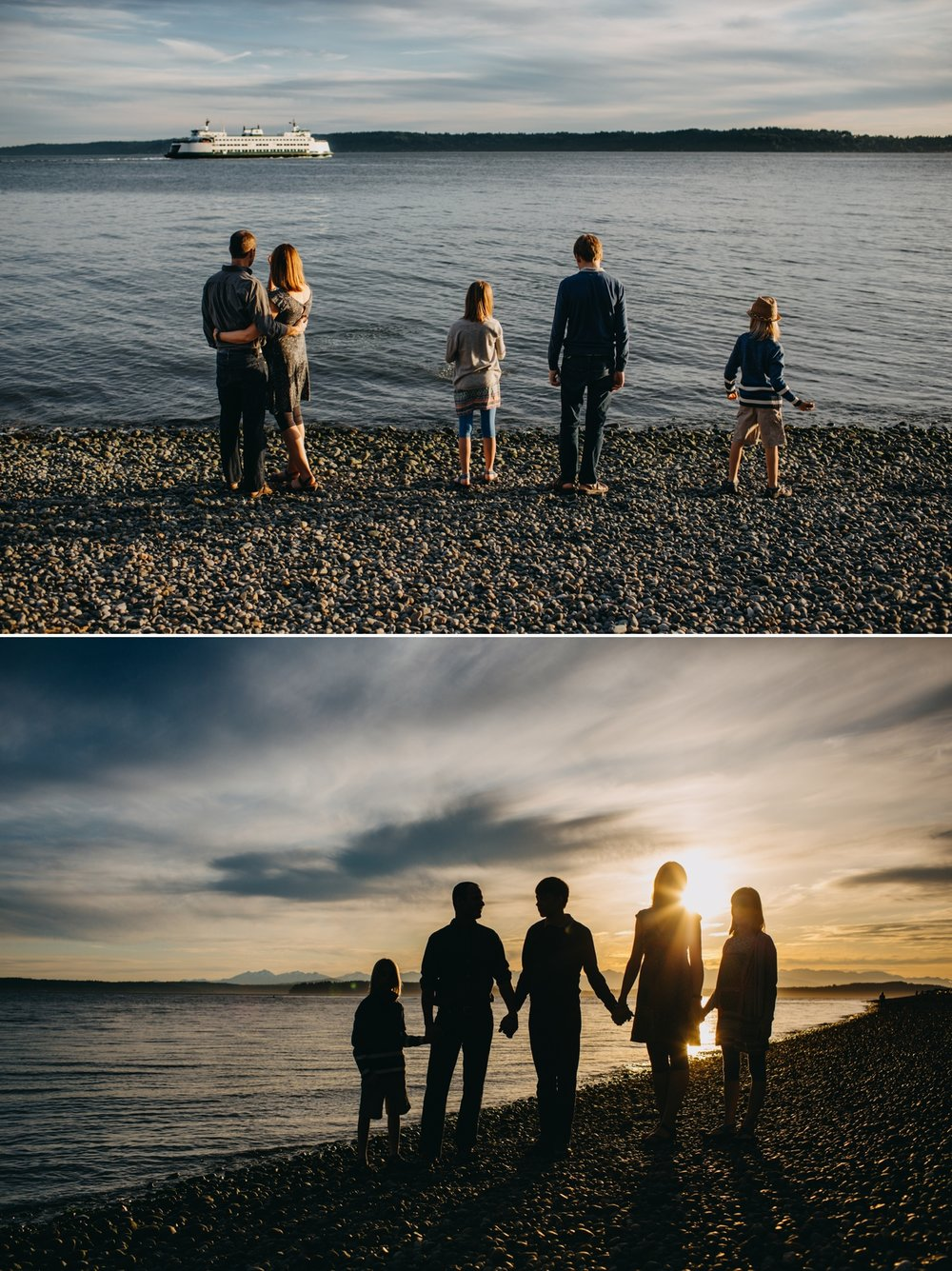 seattle family pose photography outdoors beach love elena s blair