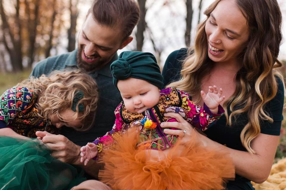fall happy family love emotive connected posing photography sweet liv