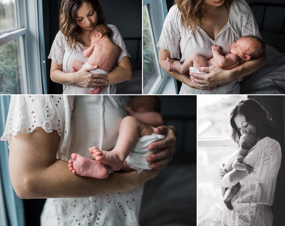 elena s blair newborn photography | seattle home lifestyle family photograper | on location in beautiful light filled home with the baby