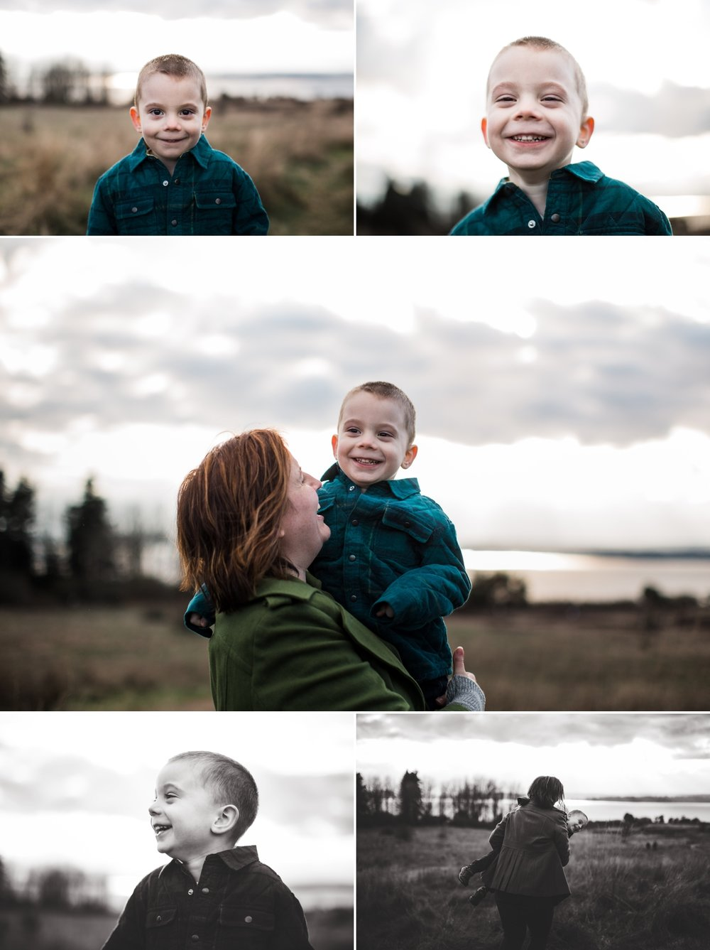 elena s blair photography | seattle family lifestyle photographer | loving family outdoors on location with son