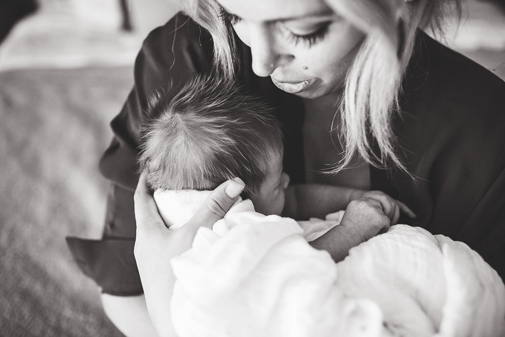 Newborn Pose, Mother And Baby, Baby Led Posing, Elena S Blair Photography