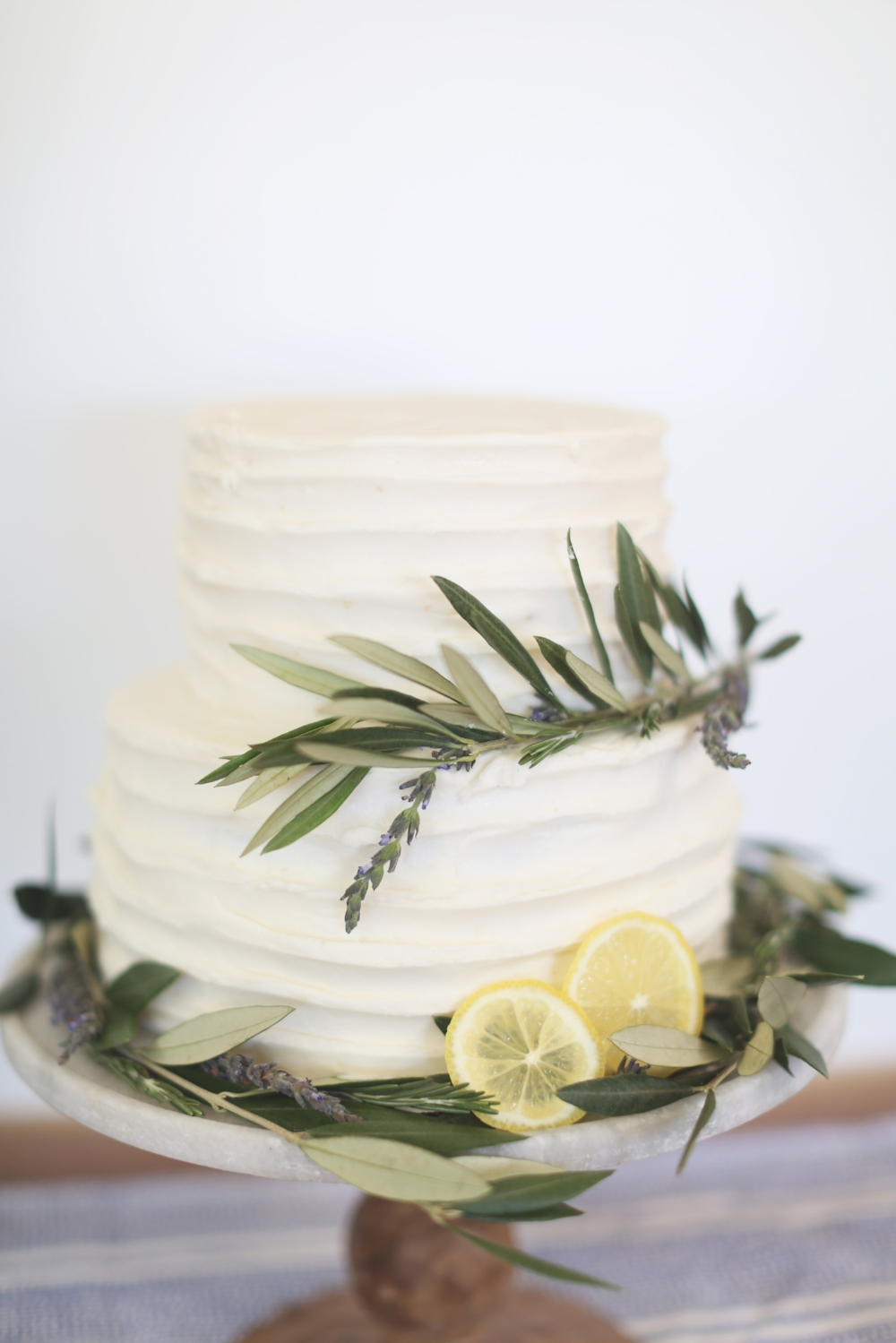 Lemon Lavender Tiered Cake                                                                                                                                                                                    Photo Credit Stacy Salvatori