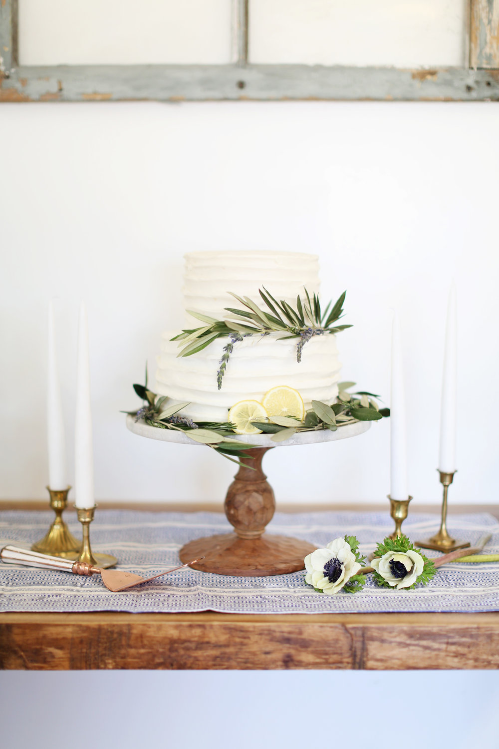Lemon Lavender Tiered Cake - Stacy Salvatori Photography