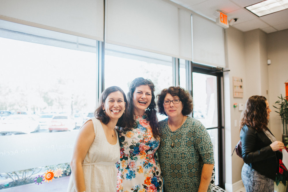 Home birth midwife Gelena Hinkley, Dr. Gena Chiropractor, home birth midwife Mary Harris, photo by Paulina Splechta South Florida Birth Photographer