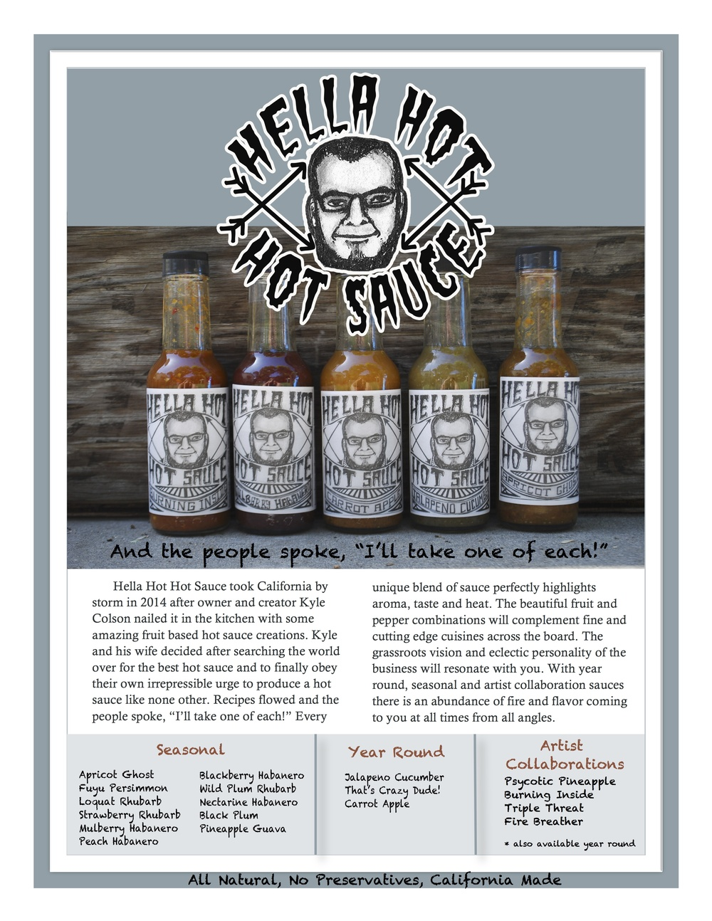 Hella Hot Hot Sauce Marketing Brochure