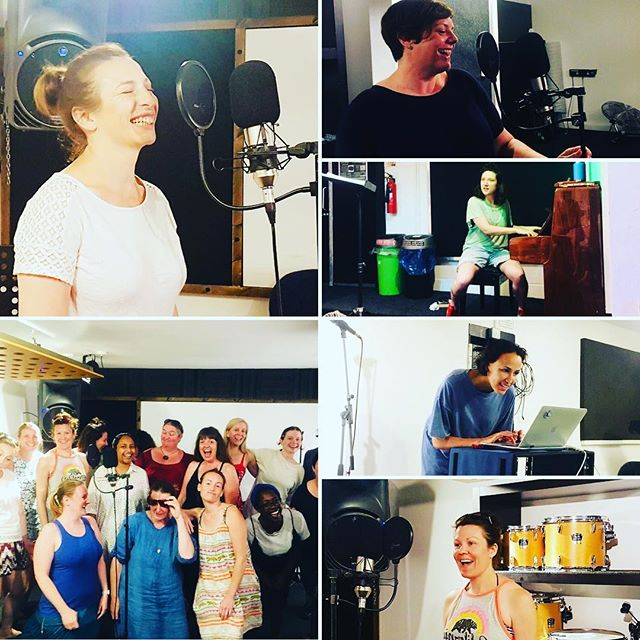 Brilliant Sunday afternoon at The Premises Studios with producer Layla Rutherford recording samples for our dance set - we'll be premiering some of this at Lambeth Country Show 2018 on Sunday July 22 and also at the Bring the Noise Women's March London anti-Trump Demo on Friday July 13 in Parliament Square - C U THERE!❤️🎤✊💪 #lipschoir #bringthenoise #womensmarchlondon #lambethcountryshow #clubclassics #premisesstudios
