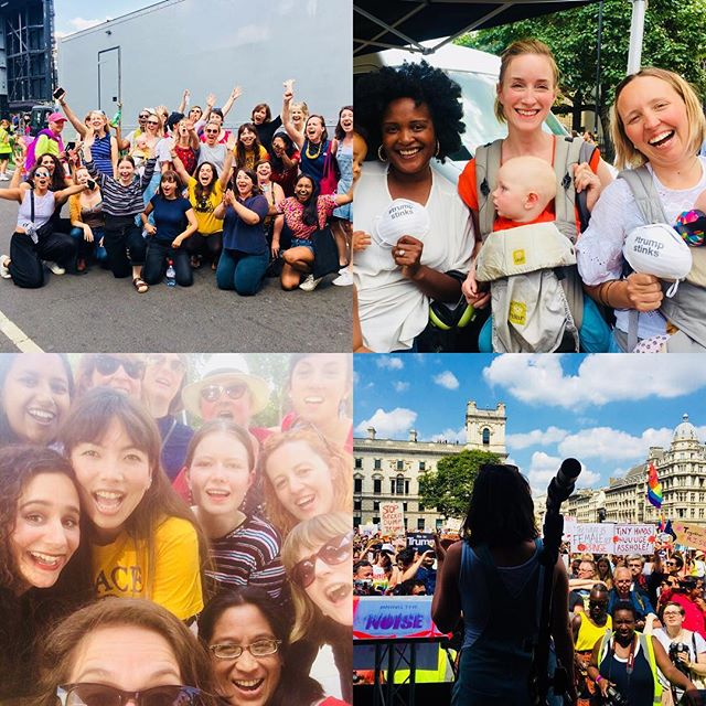 Lips bringing the noise and singing our hearts out at the Women's March London today in solidarity with the global resistance to Trump's presidency. ✊  #strongertogether #hateisnottheanswer #trumpisadisaster #bringthenoise #womensmarchlondon #lovetrumpshate #trumpnotwelcome #refugeesandmigrantswelcome