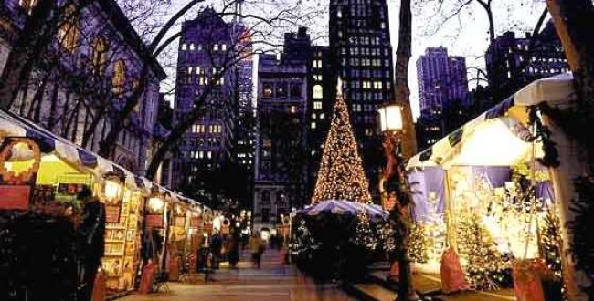 Christmas Market in Bryant Park at 5th Avenue and 42nd Street