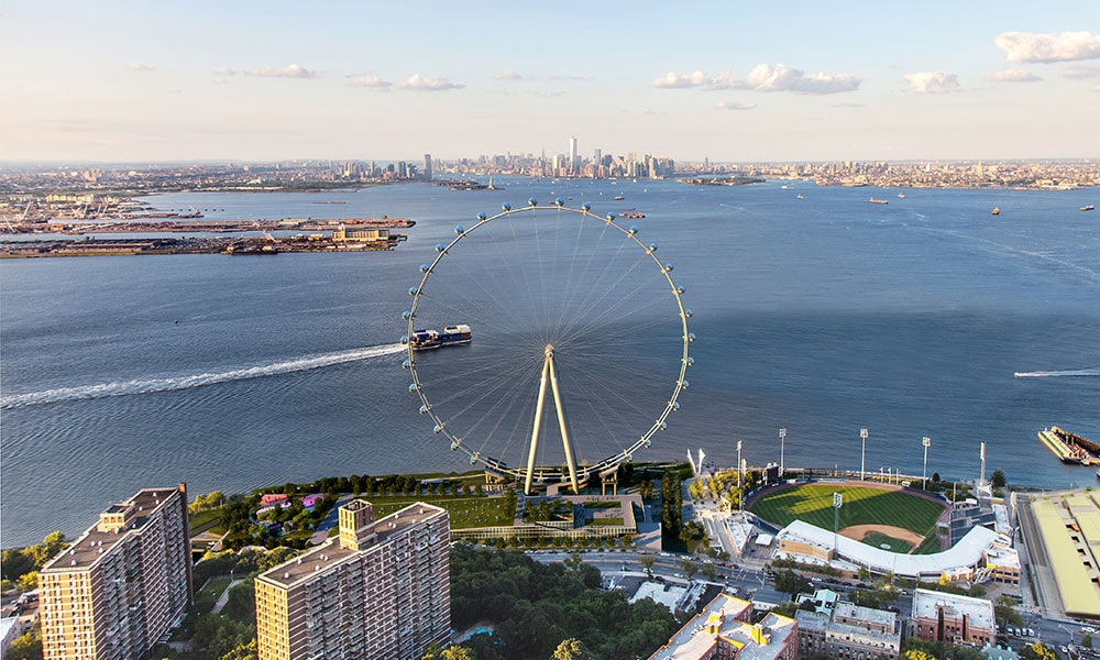 [All photos via The New York Wheel]