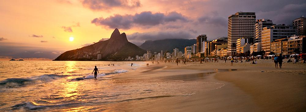 The mythical Ipanema Beach, in Rio de Janeiro