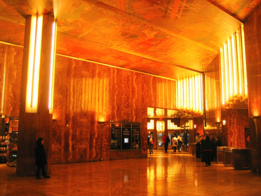 The gorgeous walls of the lobby are made with a very expensive African marble.