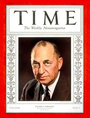 Walter P. Chrysler, 1928 Man Of The Year. Image: LIFE