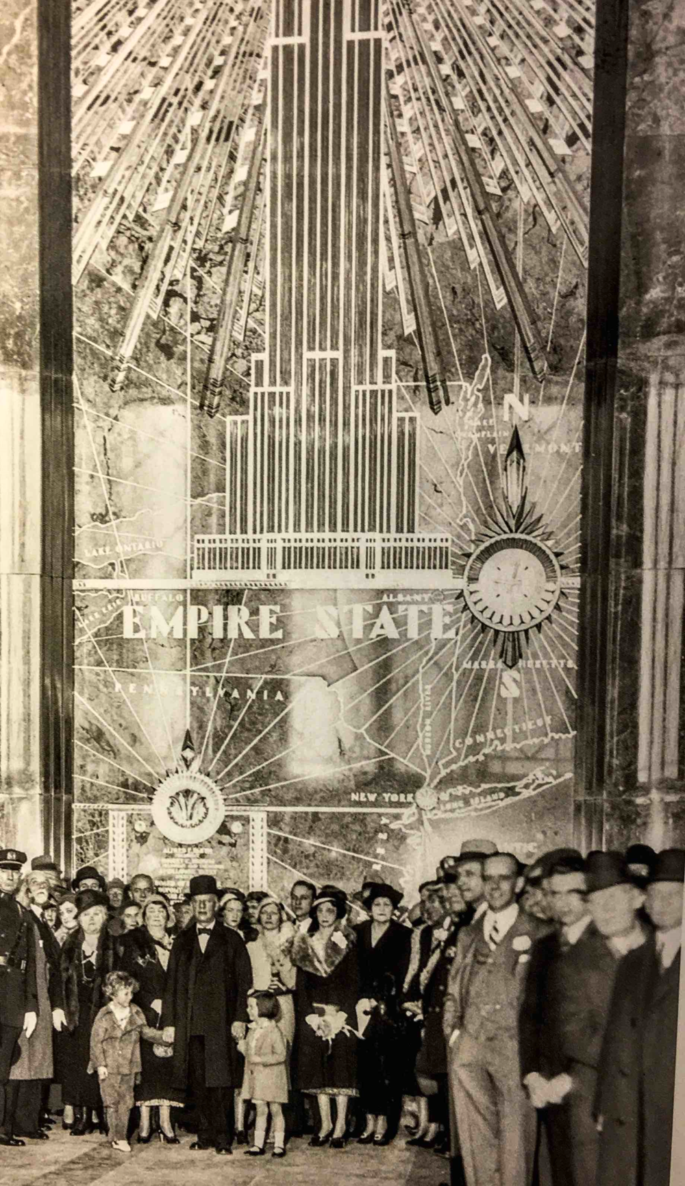 May 1, 1930 – The Empire State Building Opening Day (Image:NYPL)