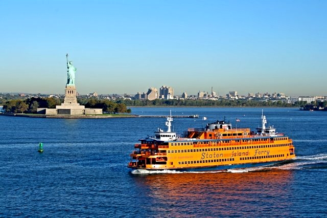 Staten Island Ferry: free great views of Lower Manhattan and the Statue of Liberty