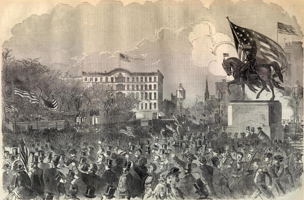 Civil War riots (1861) Image: NYPL