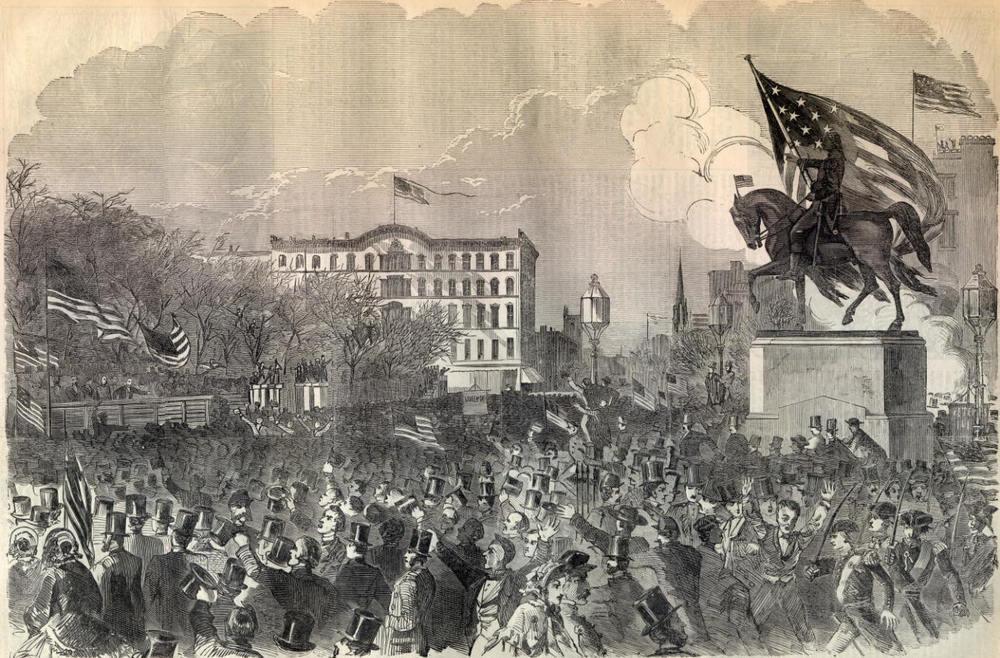 Civil War riots (1861) Image: NYPL