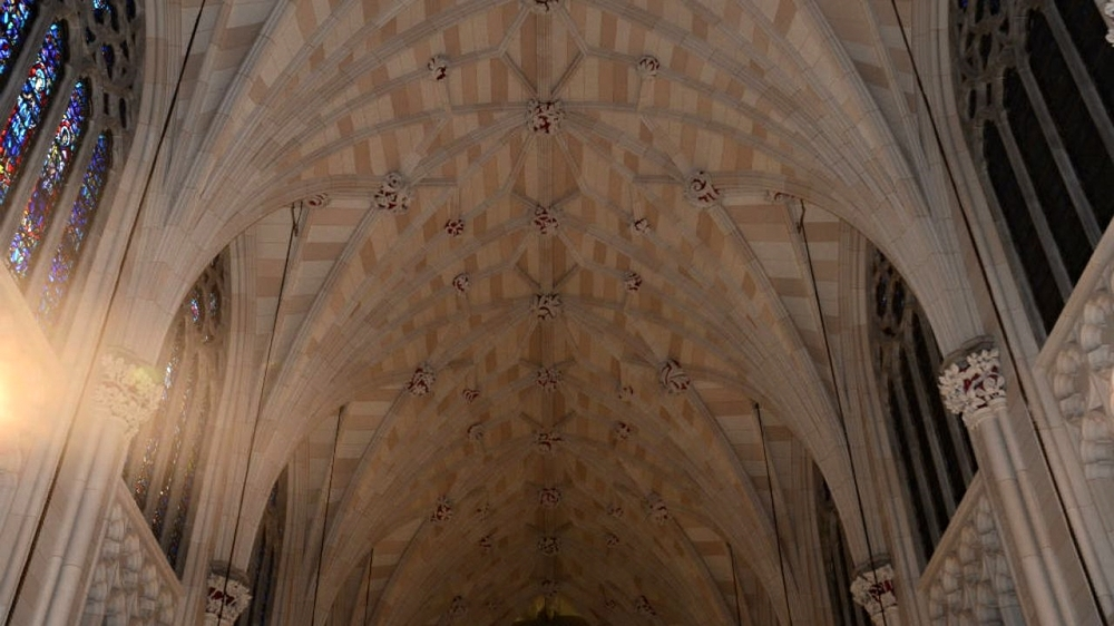 Although most of the cathedral is marble, despite popular belief, the ceiling is not.