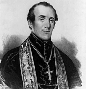 John Joseph Hughes (June 24, 1797 – January 3, 1864) was an Irish-born prelate of the Roman Catholic Church in the United States. He was the fourth Bishop and first Archbishop of the Archdiocese of New York, serving between 1842 and his death in 1864