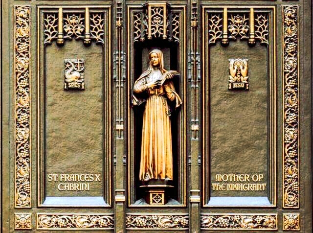 St.Frances Cabrini St.Patrickscathedral'sdoors – Mother of  The Immigrant