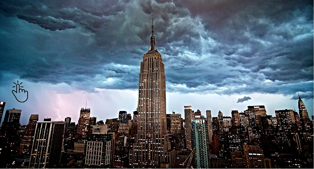 The Empire State Building  –  Learn more about this  American cultural icon