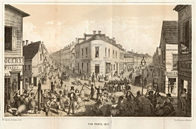 Five Points in 1827