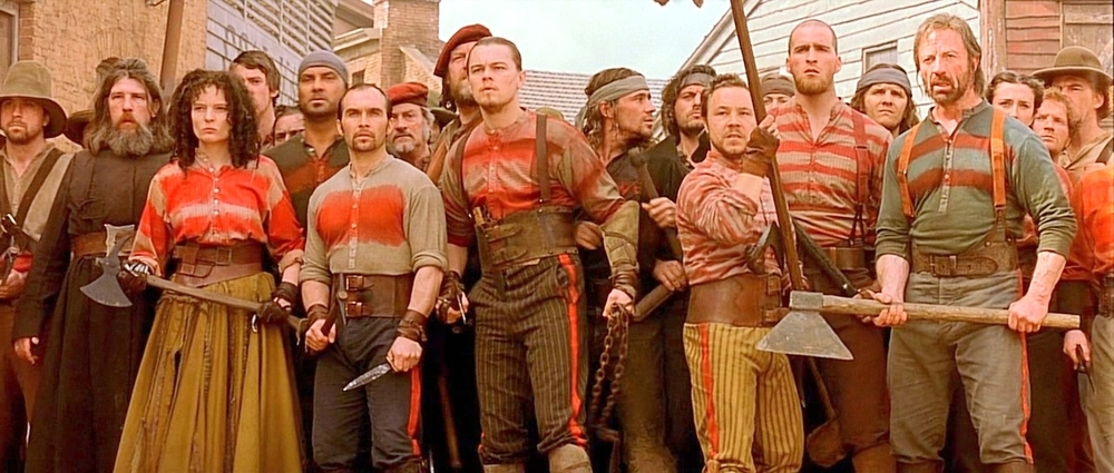 "Dead Rabbits – This crew of Irish immigrants was one of the most feared gangs to emerge from Five Points. Leonardo DiCaprio acting in ""The Gangs of New York."" Image: courtesy of Miramax"