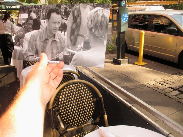 """""""You've Got Mail"""" (1998) location in the  Upper West Side .Image: Christopher Moloney and his series  FILMograph y"""