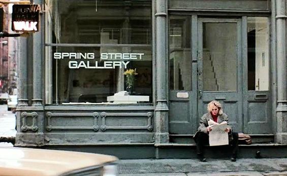 """9 1/2 Weeks"" – Kim Basinger at Spring Street Gallery, 1  01 Spring Street and Green Street,  Soho"