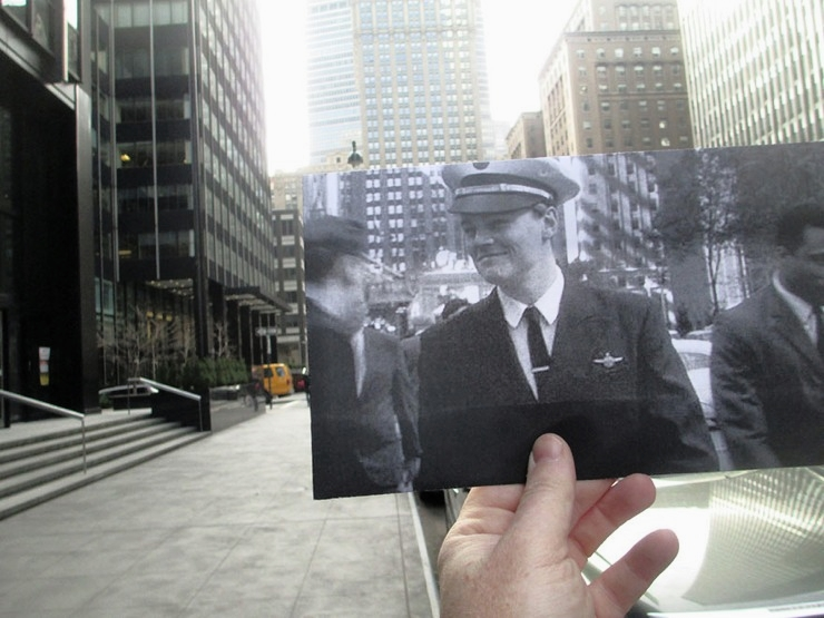 """Leonardo DiCaprio – """"Catch Me If You Can"""" (2002) on  Park Avenue . Image: Christopher Moloney and his series FILMography"""
