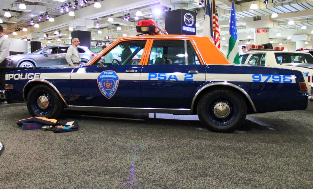 PLYMOUTH DIPLOMAT – Even though these cars were only used by the Housing Bureau, something about an orange and blue NYPD car just feels right. Hopefully department brings this color scheme back to match the city's flag (as well as three of its professional sports teams).