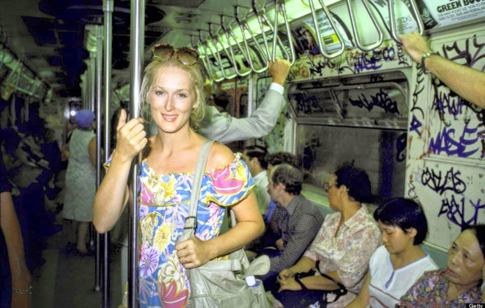 "Meryl Streep in New York subway, pictured by Ted Thai (The LIFE Picture Collection). This picture carries an intriguing story:  That was the moment right after when Meryl had auditioned for the lead in a reboot of King Kong, produced by famed Italian producer Dino De Laurentiis. When De Laurentiis brought her to his son, he replied, in Italian,   ""Why do you bring me this ugly thing?""   To which Streep replied, also in Italian,   ""I'm sorry I'm not beautiful enough to be in King Kong.""   Well, history proved the Italian producer was wrong. Meryl Streep has been nominated for the Academy Award an astonishing 19 times and has won it three times."