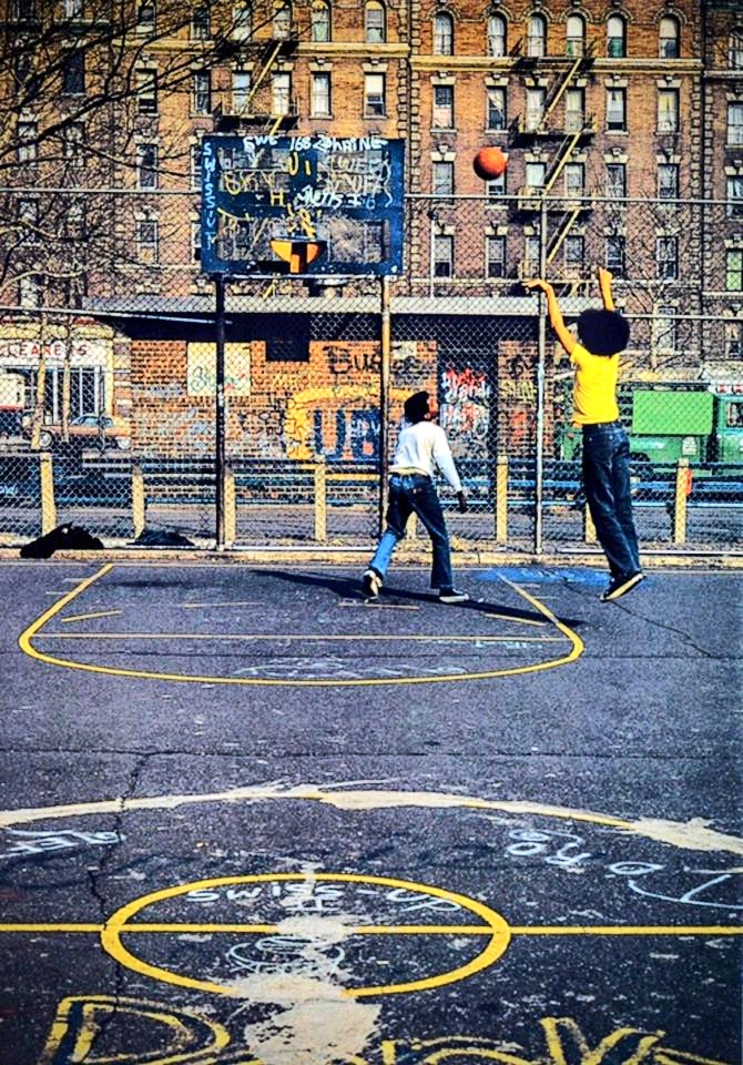 "Basketball in The Bronx in 1984 .   Check out the fantastic visual story ""Heart and Soul of New York City."""