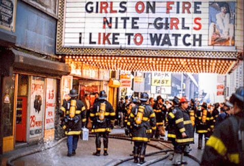 Girls were on fire, indeed. The FDNY was checking it out in 1985 in Times Square