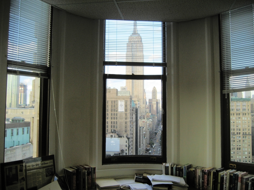 The Empire State Building seeing from an office at the thinnest end of the Flatiron Building
