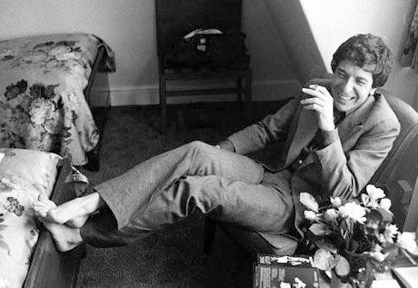 Leonard Cohen at a suite in the Chelsea Hotel in 1974, where he composed Chelsea Hotel #2 (about Janis Joplin)