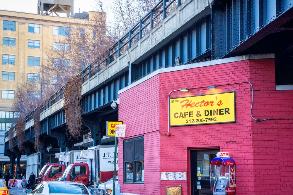 Hector's Café & Diner was opened in 1949, 15 years after the High Line was built. Still operating.