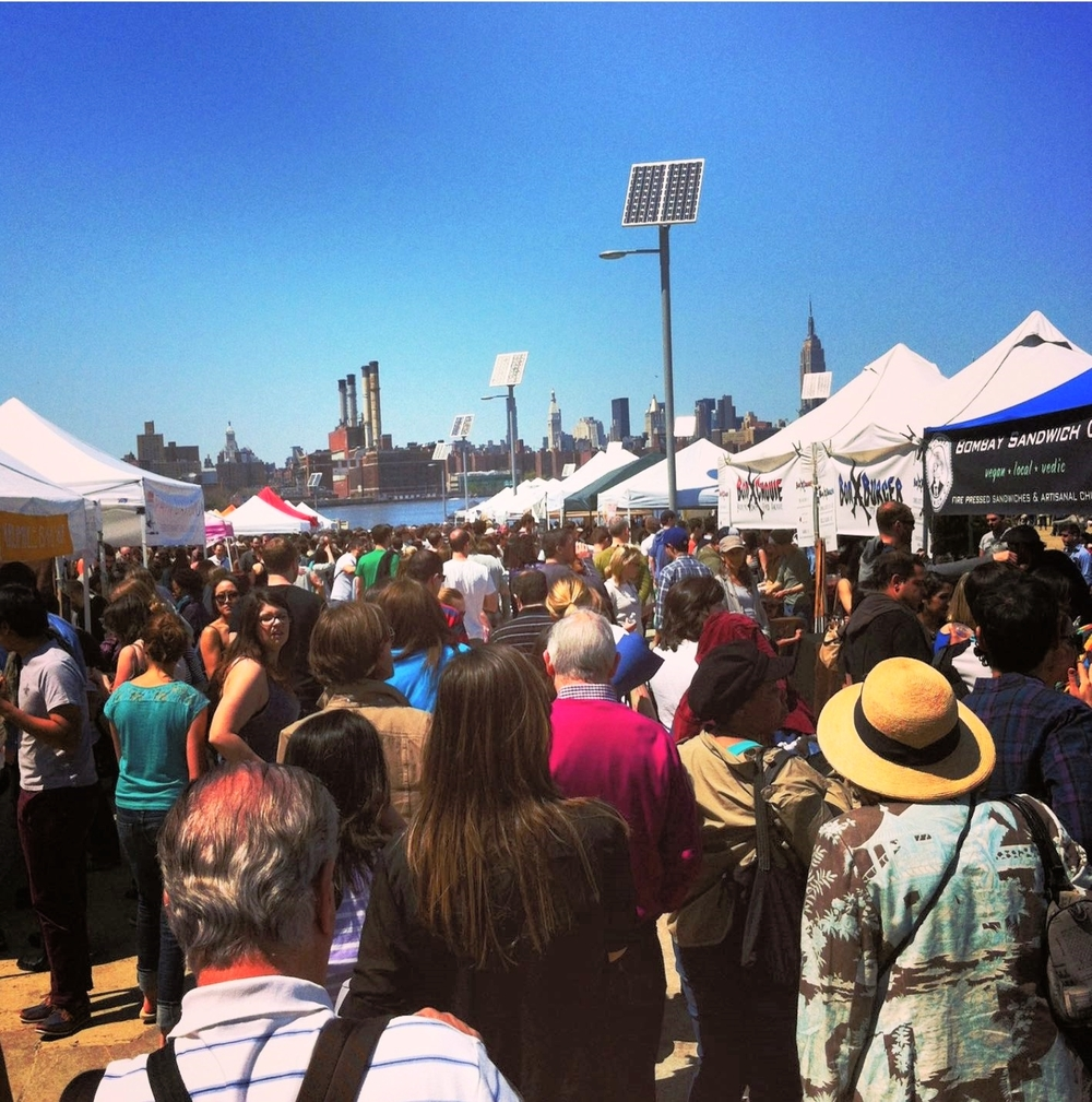 The famous Smorgasburg, a flea food market with hundreds of culinary options from all countries