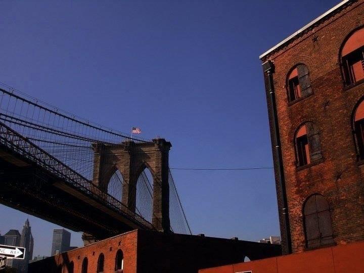 The Brooklyn Bridge seen from DUMBO