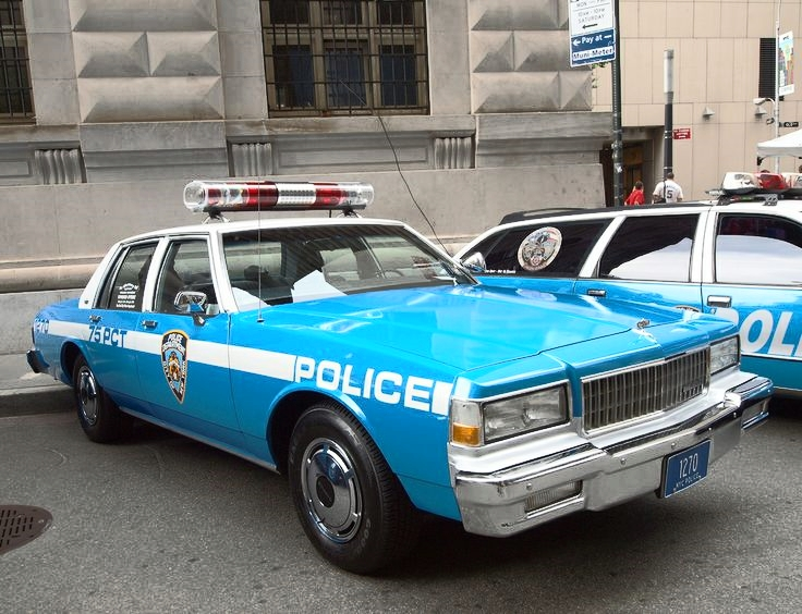 Shortly after taking office, Mayor Rudy Giuliani names Bill Bratton NYPD police commissioner. Bratton applies the Broken Windows theory of policing, which stresses enforcing quality-of-life laws. (Photo:   1990 Chevrolet Capriche/Courtesy: NYPD )
