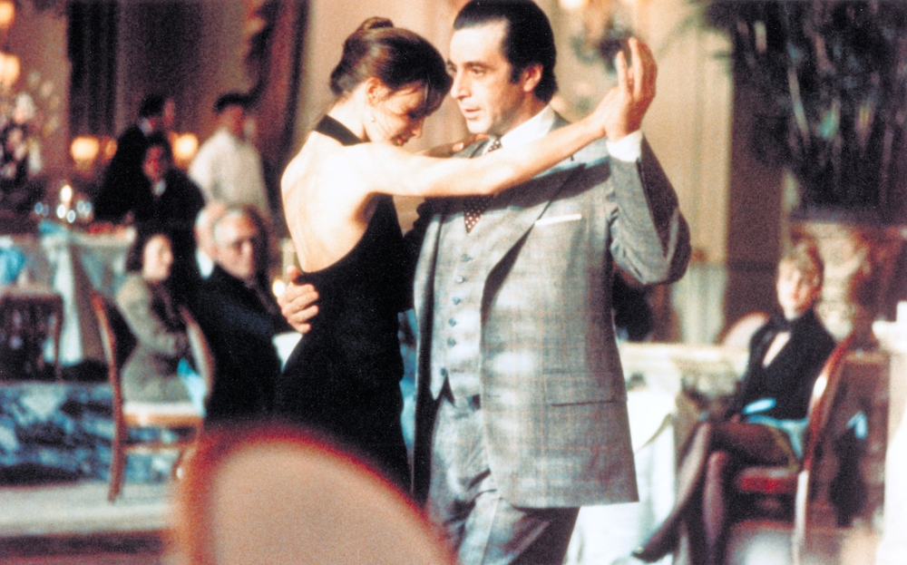 Gabrielle Anwar and Al Pacino dance in the Waldorf Astoria in ' Scent of a Woman ' (1992).    Great movies were filmed in New York locations back in the 1990s .