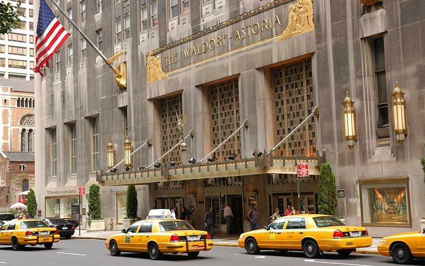 New York's iconic  Waldorf Astoria