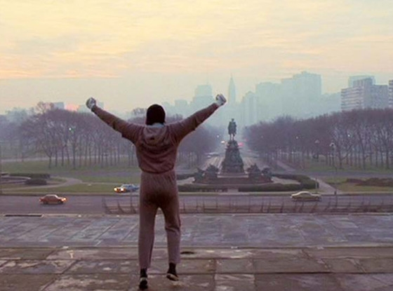 Actor Sylvester Stallone in Rocky (1976)
