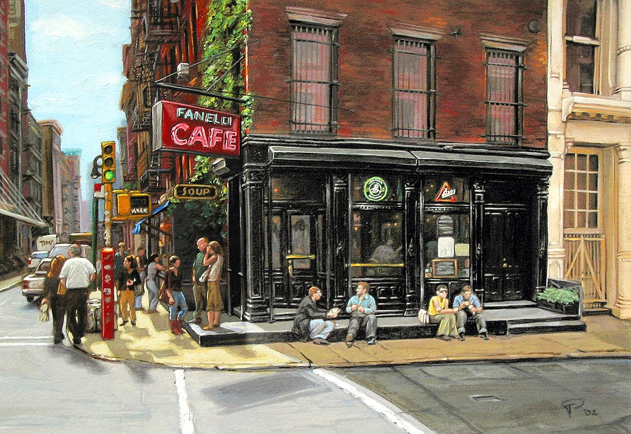 Fanelli Cafe painting by    Ted Papoulas