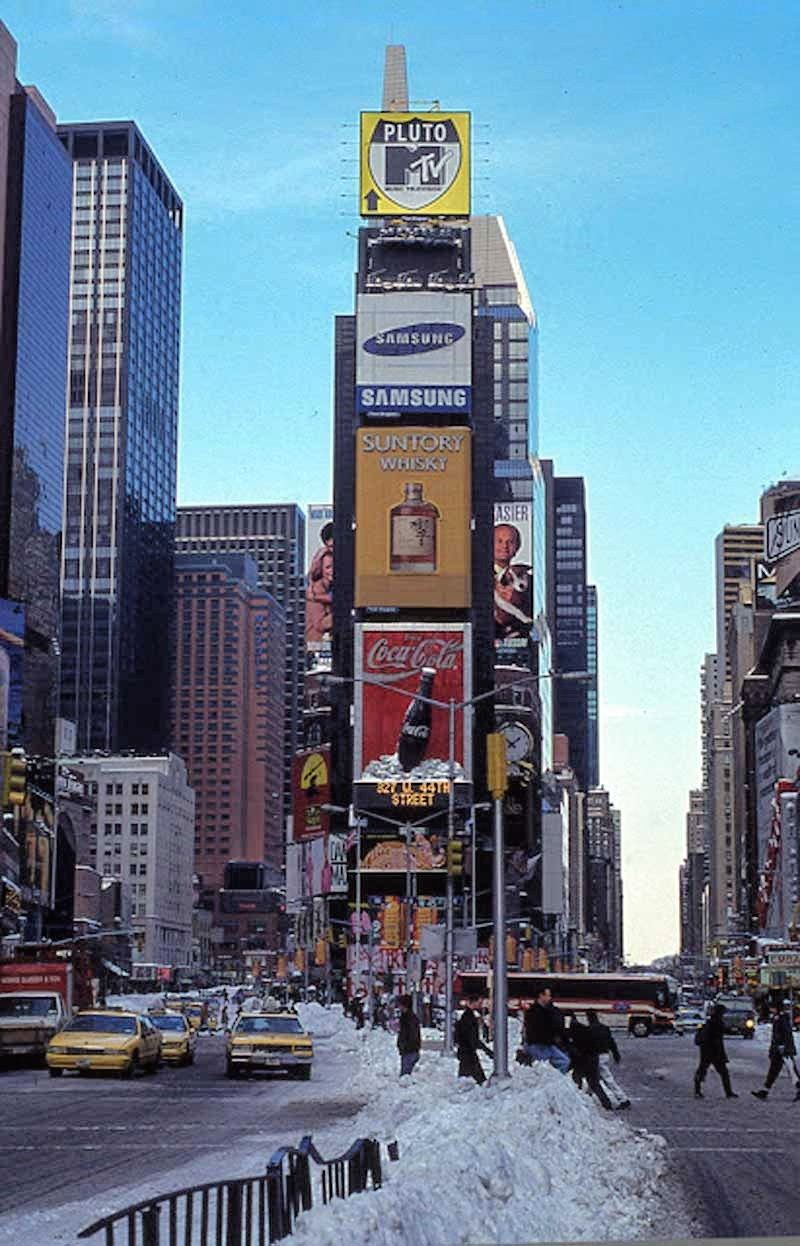Times Square in the 1990s (Image: NYPL)